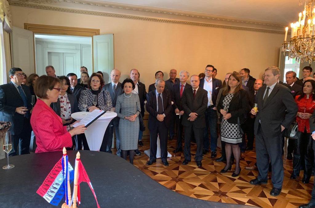Festejo de la Independencia del Paraguay con la presencia de funcionarios de la Administración Federal, representantes de la sociedad civil y diplomáticos acreditados en Berna, Suiza.