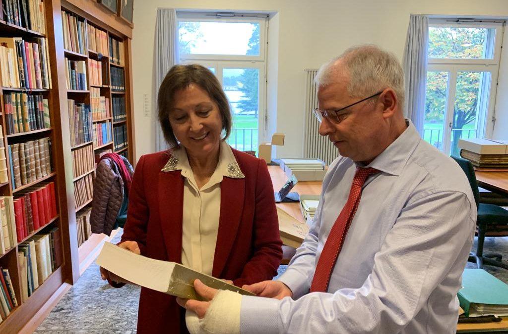Reunión con el Director del Archivo Estatal de Bellinzona-Ticino.